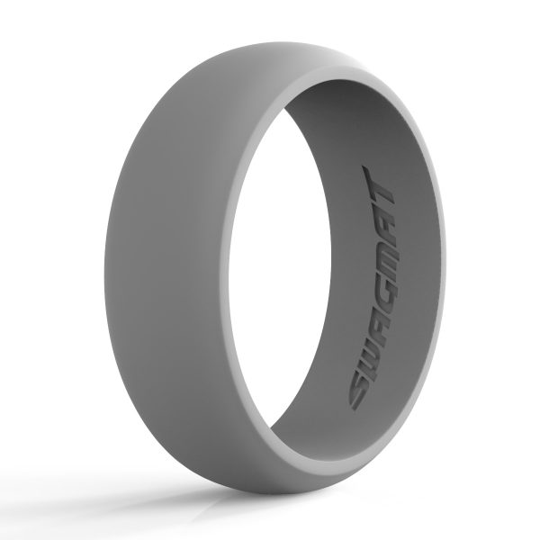 8 mm Boulder Gray Silicone ring for men
