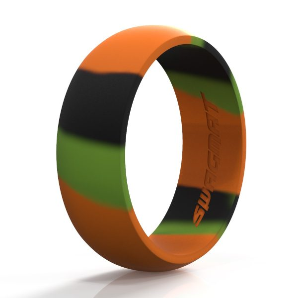 8 mm Camo Silicone ring for men
