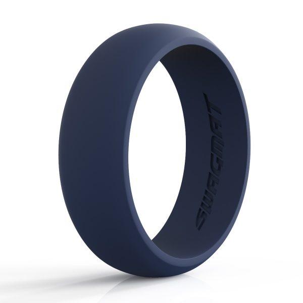 8 mm Cloudburst Blue Silicone ring for men