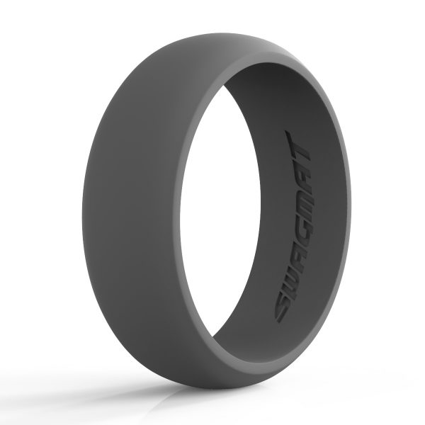 8 mm Emperor Gray Silicone ring for men
