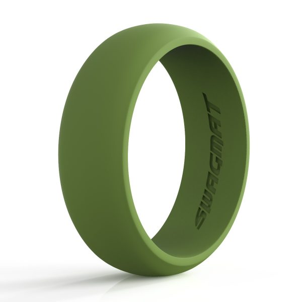 8 mm Olive Green Silicone ring for men