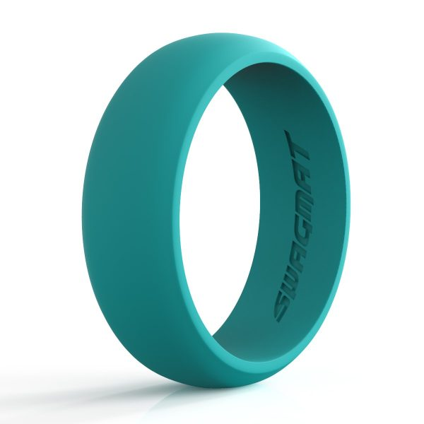 8 mm Teal Silicone ring for men
