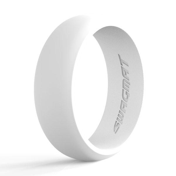 8mm Whitesmoke Silicone ring for men