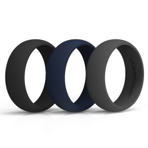 Classic Midnight Silicone rings