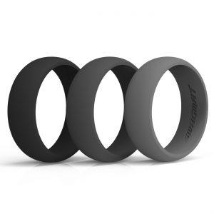 Classic MonoChrome Silicone Rings