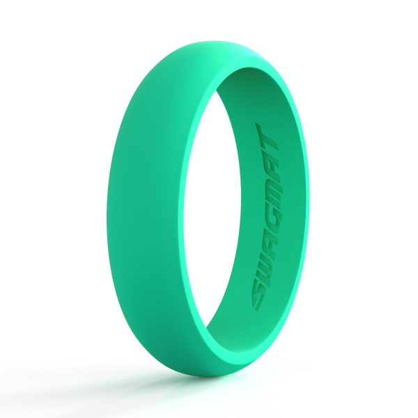 5mm Caribbean Green Women Silicone ring