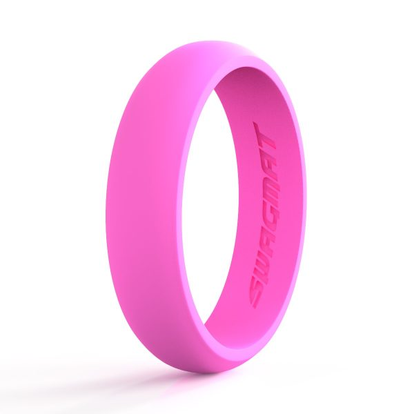 5mm Rose Pink Women Silicone ring