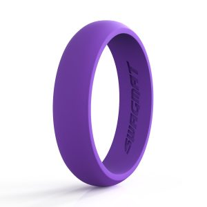 5mm Royal purple Women Silicone ring