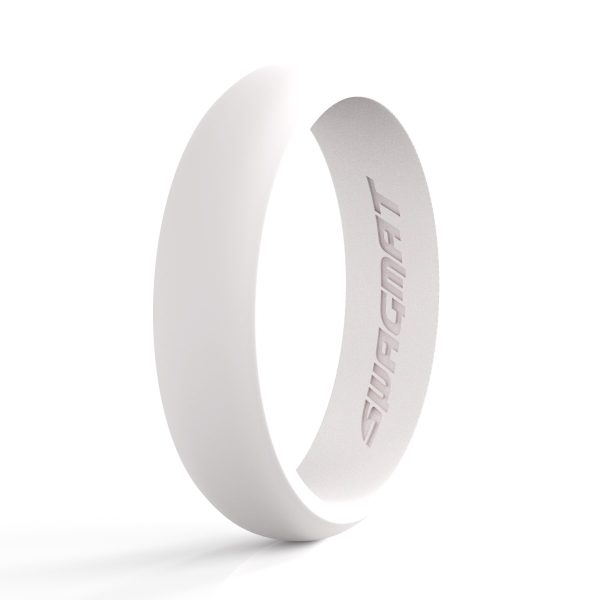 5mm Snow White Women Silicone ring