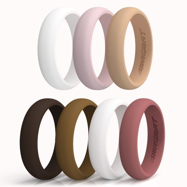 Swagmat 7 Pack Silicone Rings For Women