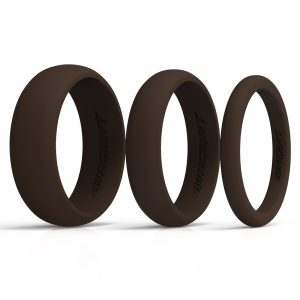 Multi-Width Bistre Silicone Rings