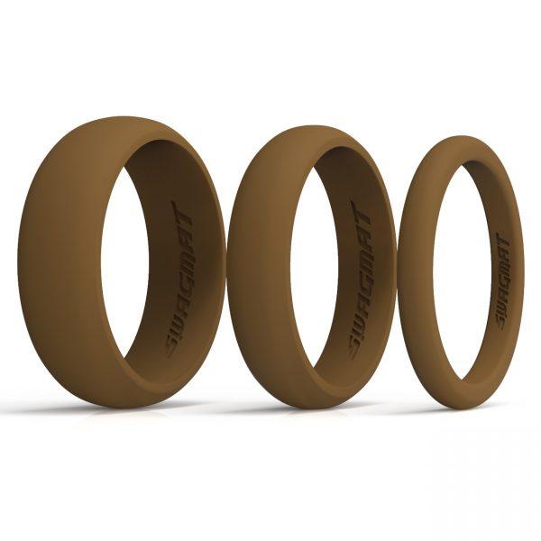 Multi-Width Bronze Silicone Rings