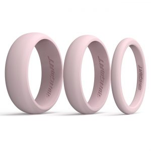 Multi-Width Carousel Pink Silicone Rings