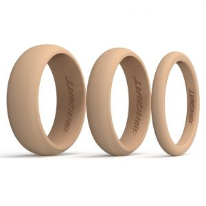 Multi Pack Nude Silicone Rings