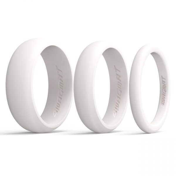 Multi-Width Snow White Silicone Rings