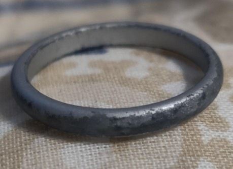 Discolored Cheap Metallic Coating on Silicone Ring
